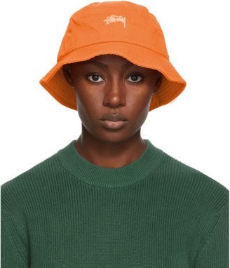 Stussy Orange Stock Bucket Hat