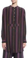 Figue Thalie Ashbury-Stripe Long-Sleeve High-Low Tunic