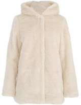 Cream Shearling Coat - ShopStyle UK