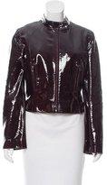 Alberta Ferretti Patent Leather Padded Jacket