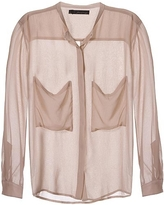 Patterson J. Kincaid Harlow Long Sleeve Blouse In Blush
