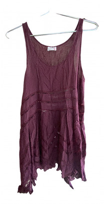 Free People Burgundy Viscose Dresses