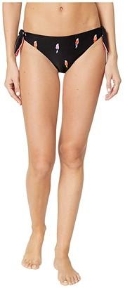 Kate Spade Flock Party Reversible Side Tie Bottoms (Black) Women's Swimwear
