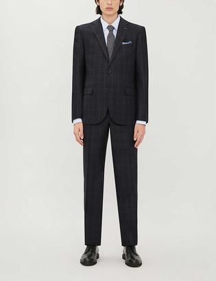 Corneliani Checked regular-fit two piece wool suit