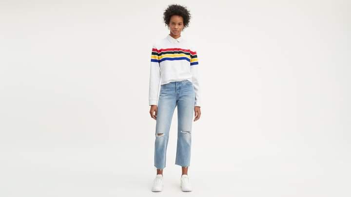 Levi's 501 Low Rise Customized Crop Jeans