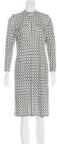 Tory Burch Horsebit Print Midi Dress