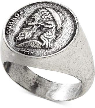Degs & Sal Men Greek Skull Coin Ring in Sterling Silver