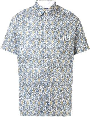 Junya Watanabe Floral-Pattern Short Sleeve Shirt