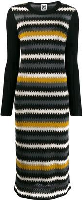 M Missoni zig zag knitted dress