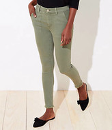 LOFT Curvy Utility Skinny Jeans in Sage Cloud