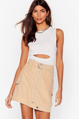 Nasty Gal Womens Cut-Out for the Day Ribbed Tank Top - White