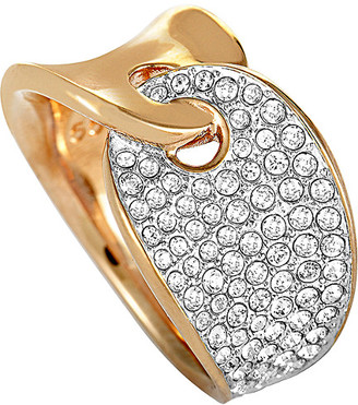 Swarovski Crystal Rose Gold Plated Stainless Steel Ring