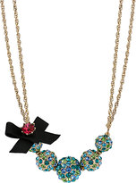 Betsey Johnson Crystal Fireball Necklace