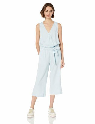 Daily Ritual Tencel Sleeveless Wrap Jumpsuit Bleach Wash US 16 (EU XL-2XL)