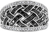 Black Diamond FINE JEWELRY 3/8 CT. T.W. White and Color-Enhanced Lattice Sterling Silver Ring