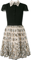 Alice + Olivia Alice+Olivia - butterfly embroidered dress - women - Silk/Nylon/Polyester/Spandex/Elastane - 2