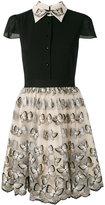 Alice + Olivia Alice+Olivia - butterfly embroidered dress - women - Silk/Nylon/Polyester/Spandex/Elastane - 2