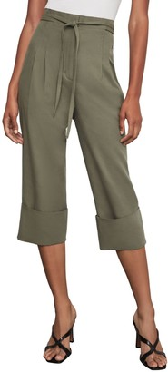 BCBGMAXAZRIA Tie-Front Cuffed Cropped Pants