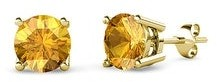 TriJewels Gemstone Four Prong Solitaire Womens Stud Earrings 14K Gold