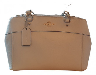 Coach Crossgrain Kitt Carry All Beige Patent leather Handbags