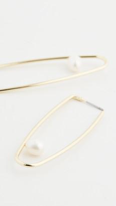 Jules Smith Designs Cultured Pearl Drop Hoop Earrings