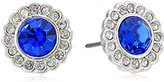 Vera Bradley Pave Silver Tone with Blue Stud Earrings