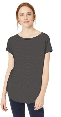 Daily Ritual Women's Supersoft Terry Dolman-Sleeve Boat-Neck Shirt