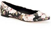 BCBGeneration Millie Watercolor Floral Flats