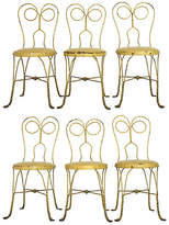 One Kings Lane Vintage Yellow Parisian Garden Chairs