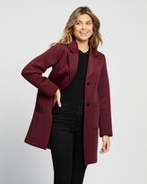 Thumbnail for your product : Atmos & Here Atmos&Here - Women's Red Coats - Sally Scuba Coat - Size 8 at The Iconic