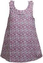 Ribbon Girls Printed Frill Trim Vest Top Navy/Pink