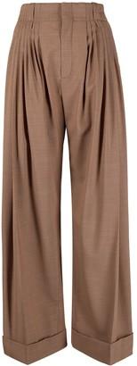 Chloé High-Waist Wide-Leg Trousers