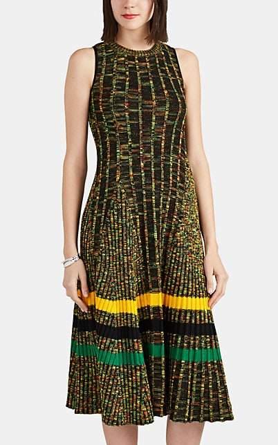 Calvin Klein Women's Mélange Mixed-Knit Wool-Blend Dress