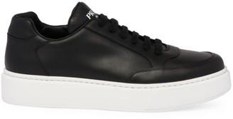 Prada Montana Leather Low-Top Sneakers