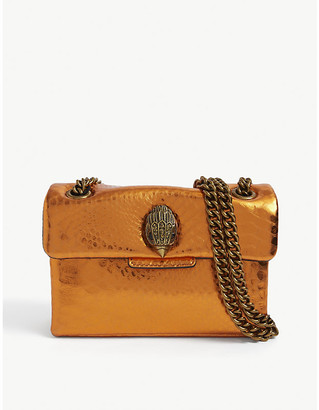 Kurt Geiger Kensington snake-embossed leather bag