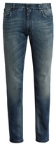 Fendi Bag Bugs-embroidered Slim-leg Jeans