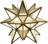 One Kings Lane Vintage Leaded Glass Mexican Star Candle Lantern