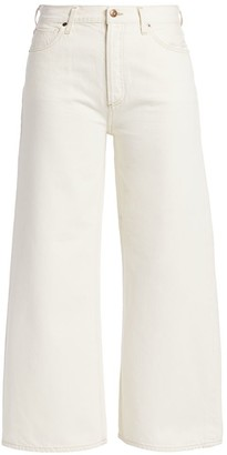 Citizens of Humanity Serena High-Rise A-Line Crop Wide-Leg Jeans