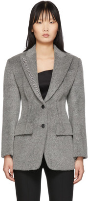 Alexander Wang Grey Alpaca Elongated Blazer