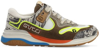 Gucci 10mm Ultrapace Mesh & Suede Sneakers