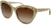Dolce & Gabbana Women's Butterfly Beige & Gold-Tone Sunglasses