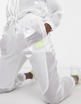 Nike translucent joggers in white