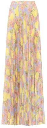 Prada Floral crepe maxi skirt