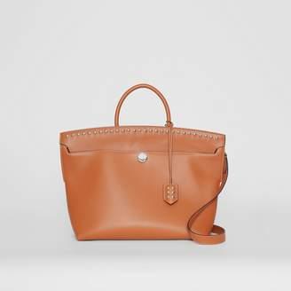 Burberry Studded Leather Society Top Handle Bag