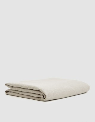 Hawkins New York King Size Simple Linen Flat Sheet in Light Grey