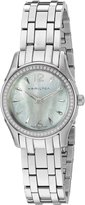 Hamilton Women's 'Jazzmaster' Swiss Quartz Stainless Steel Automatic Watch, Color:Silver-Toned (Model: H32281197)