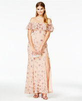 Speechless Juniors' Strapless Embroidered Boho Gown, A Macy's Exclusive Style