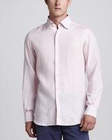 Ermenegildo Zegna Linen Sport Shirt, Pink