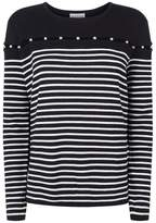 Claudie Pierlot Embellished Cut-Out Wool Sweater