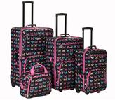 Rockland Butterfly 4-piece Expandable Luggage Set